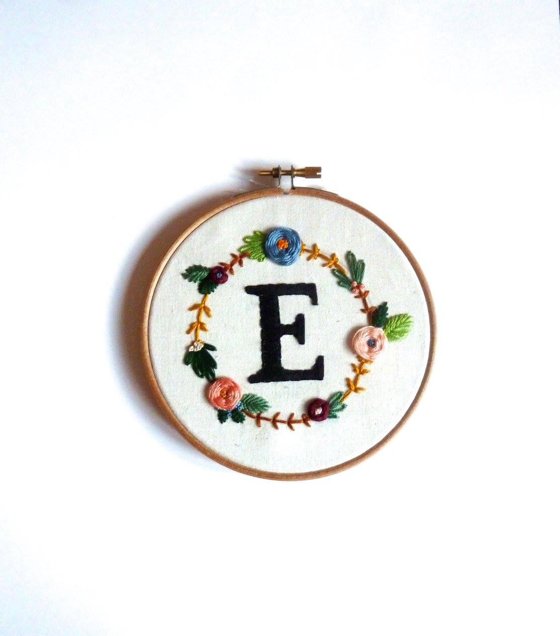 Personalised monogram hoop art